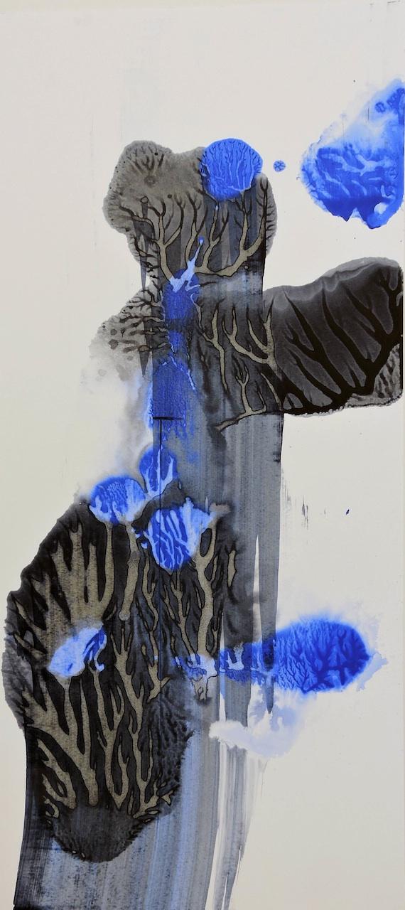 Semiramis Figur Manuela Gottfried 2021, Acryl auf Karton, 30,5 x 68,5 cm