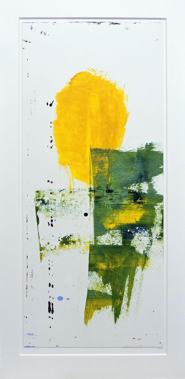La Tete Jaune, Manuela Gottfried 2021, Acryl auf Karton, 42 x 82 cm